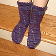Eyelet Swirl Socks in Bearfoot