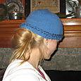 Blue Hat with Braid