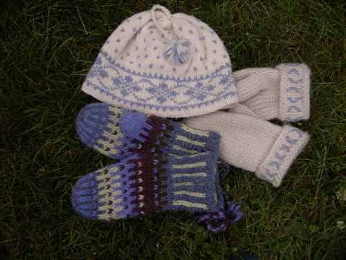 Knitting from the Past: Lovikka Mittens, My Pattern Mittens, and Nordic Hat f...